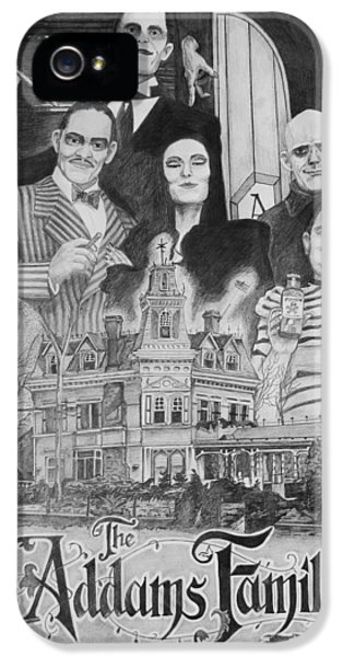 Wednesday iPhone 5 Cases - The Addams Family Montage iPhone 5 Case by Mark Harris