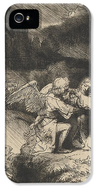 Son Of God iPhone 5 Cases - The Agony in the garden iPhone 5 Case by Rembrandt