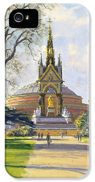 Restoration iPhone 5 Cases - The Albert Memorial Oil On Canvas iPhone 5 Case by Julian Barrow