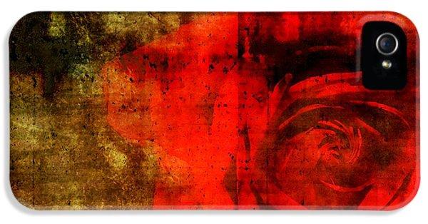 Epic Amazing Colors Landscape Digital Modern Still Life Trees Warm Natural Earth Organic Paint Photo Chic Decor Interior Design Brett Pfister Art Digital Art Digital Art Digital Art iPhone 5 Cases - The Allure Of A Rose iPhone 5 Case by Brett Pfister