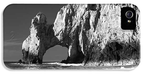 Eye iPhone 5 Cases - The Arch Cabo San Lucas in Black and White iPhone 5 Case by Sebastian Musial