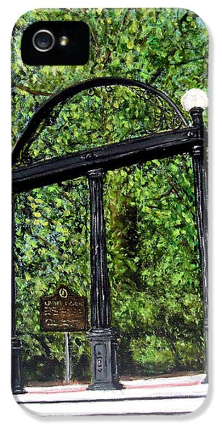The Arch - University Of Georgia- Painting IPhone 5 / 5s Case by Katie Phillips