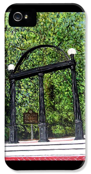 The Arch At Uga IPhone 5 / 5s Case by Katie Phillips