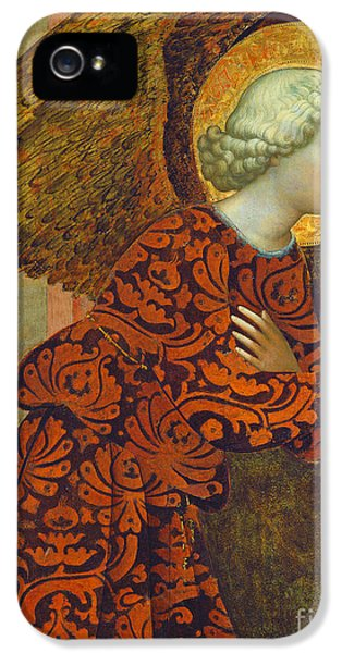Angel iPhone 5 Cases - The Archangel Gabriel iPhone 5 Case by Tommaso Masolino da Panicale
