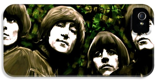 The Beatles iPhone 5 Cases - The Art of Sound  The Beatles iPhone 5 Case by Iconic Images Art Gallery David Pucciarelli
