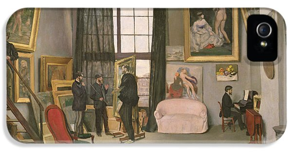 Jeans iPhone 5 Cases - The Artists Studio iPhone 5 Case by Jean Frederic Bazille