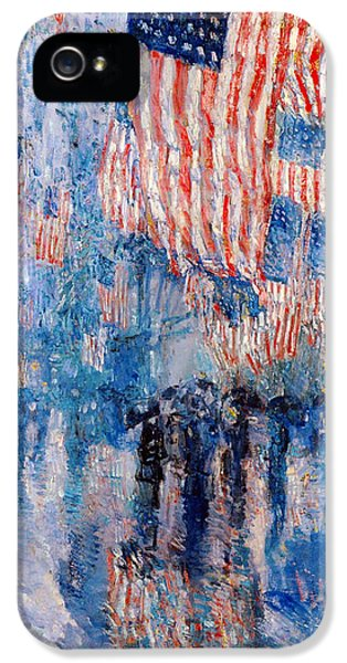 The Avenue In The Rain IPhone 5 / 5s Case by Frederick Childe Hassam