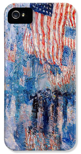 Fourth iPhone 5 Cases - The Avenue In The Rain iPhone 5 Case by Frederick Childe Hassam