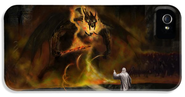 Monster iPhone 5 Cases - The Balrog iPhone 5 Case by Matt Kedzierski