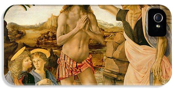 The Baptism Of Christ By John The Baptist IPhone 5 / 5s Case by Leonardo da Vinci