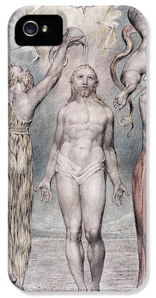 John The Baptist iPhone 5 Cases - The Baptism Of Christ iPhone 5 Case by William Blake