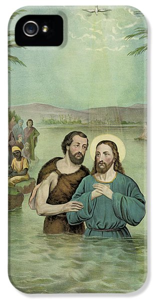 Baptism iPhone 5 Cases - The Baptism of Jesus Christ Circa 1893 iPhone 5 Case by Aged Pixel