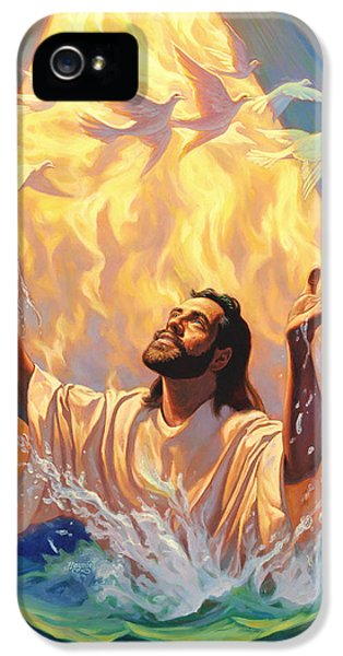 Baptism iPhone 5 Cases - The Baptism of Jesus iPhone 5 Case by Jeff Haynie