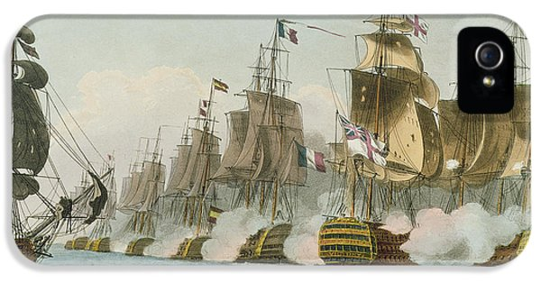 Smoke iPhone 5 Cases - The Battle of Trafalgar iPhone 5 Case by Thomas Whitcombe