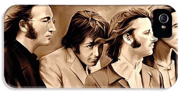 The Beatles iPhone 5 Cases - The Beatles Artwork 4 iPhone 5 Case by Sheraz A