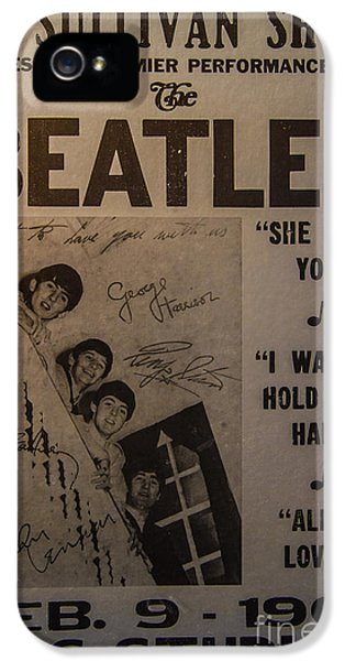 The Beatles iPhone 5 Cases - The Beatles Ed Sullivan Show Poster iPhone 5 Case by Mitch Shindelbower