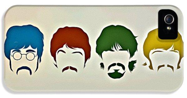 Music Legend iPhone 5 Cases - The Beatles iPhone 5 Case by Florian Rodarte
