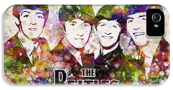 Ringo Starr iPhone 5 Cases - The Beatles in Color iPhone 5 Case by Aged Pixel