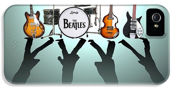 Image iPhone 5 Cases - The Beatles iPhone 5 Case by Lena Day
