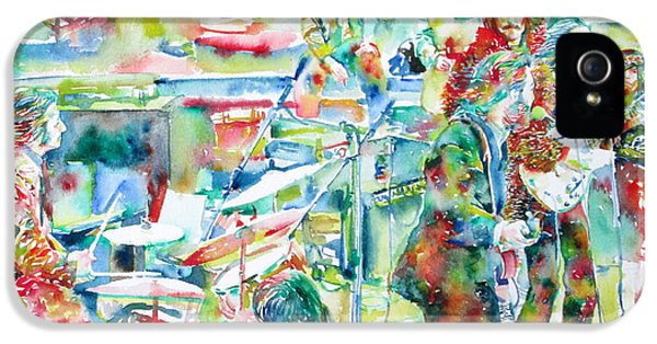 Ringo Starr iPhone 5 Cases - THE BEATLES ROOFTOP CONCERT - watercolor painting iPhone 5 Case by Fabrizio Cassetta