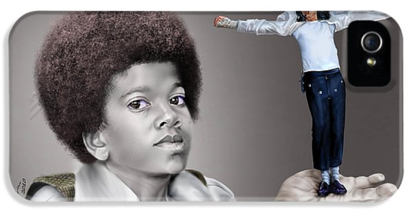 The Best Of Me - Handle With Care - Michael Jacksons IPhone 5 / 5s Case by Reggie Duffie