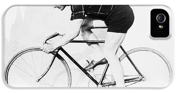 The Bicyclist - 1914 IPhone 5 / 5s Case by Daniel Hagerman
