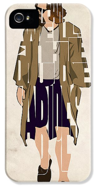 Character iPhone 5 Cases - The Big Lebowski Inspired The Dude Typography Artwork iPhone 5 Case by Ayse Deniz