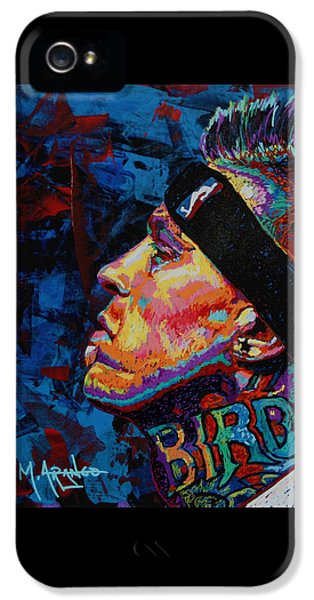 Nba iPhone 5 Cases - The Birdman Chris Andersen iPhone 5 Case by Maria Arango