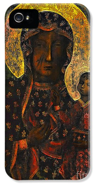 Babies iPhone 5 Cases - The Black Madonna iPhone 5 Case by Andrzej Szczerski