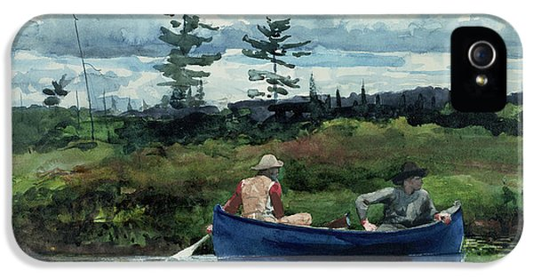 Homer iPhone 5 Cases - The Blue Boat iPhone 5 Case by Winslow Homer