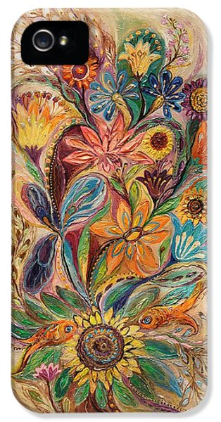 Modern Jewish iPhone 5 Cases - The bouquet of Life iPhone 5 Case by Elena Kotliarker