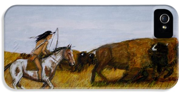The Buffalo Hunter. IPhone 5 / 5s Case by Larry E Lamb