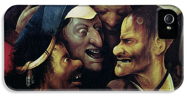 Ill iPhone 5 Cases - The Carrying Of The Cross, Oil On Panel Detail See Also 28966, 61299 And 61229 iPhone 5 Case by Hieronymus Bosch