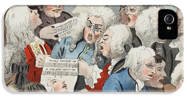 The Chorus Or Rehearsal Of The Oratorio IPhone 5 / 5s Case by William Hogarth
