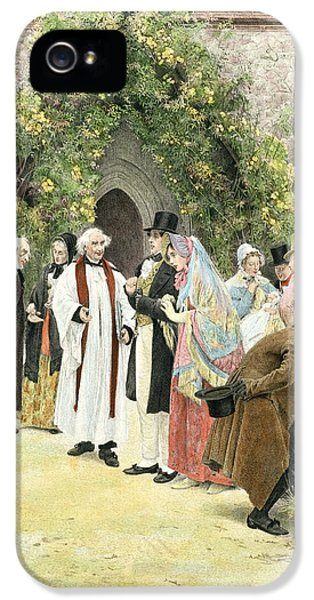 Baptism iPhone 5 Cases - The Christening iPhone 5 Case by Walter Dendy Sadler