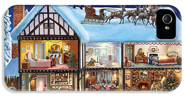 Puzzles iPhone 5 Cases - Christmas House iPhone 5 Case by Steve Crisp