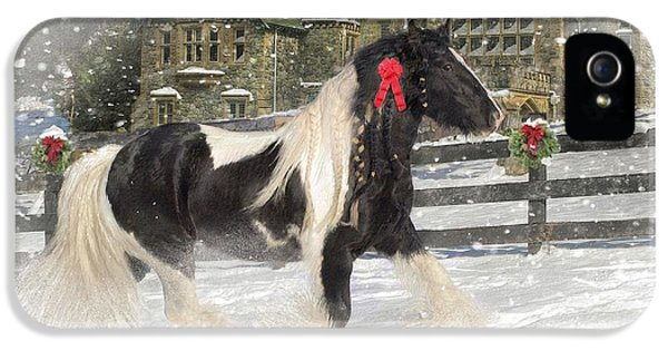Greeting iPhone 5 Cases - The Christmas Pony iPhone 5 Case by Fran J Scott