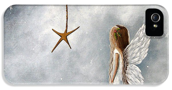 Angel iPhone 5 Cases - The Christmas Star Original Artwork iPhone 5 Case by Shawna Erback