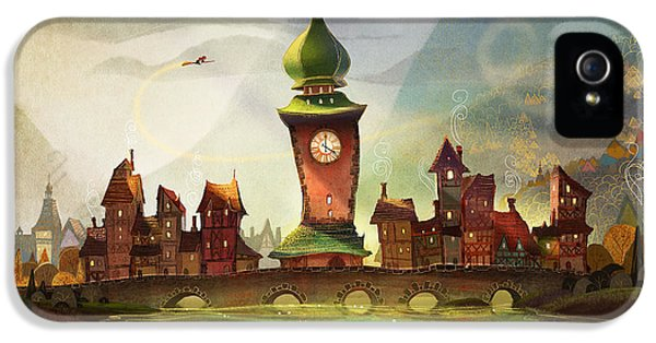 Clock iPhone 5 Cases - The Clock Tower iPhone 5 Case by Kristina Vardazaryan