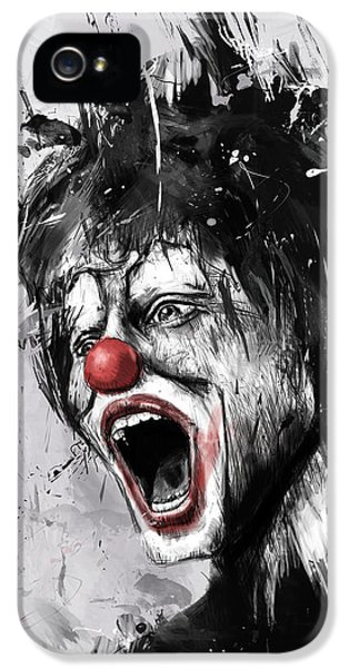Laughing iPhone 5 Cases - The Clown iPhone 5 Case by Balazs Solti
