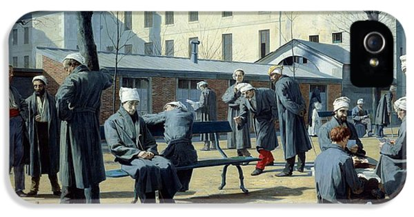 Hospital iPhone 5 Cases - The Convalescents, 1861 Oil On Canvas iPhone 5 Case by Marie Francois Firmin-Girard