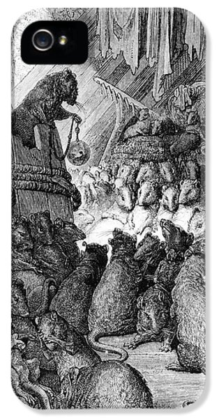 Chairman iPhone 5 Cases - The Council Held by the Rats iPhone 5 Case by Gustave Dore