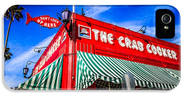 Newport Beach iPhone 5 Cases - The Crab Cooker Newport Beach Photo iPhone 5 Case by Paul Velgos