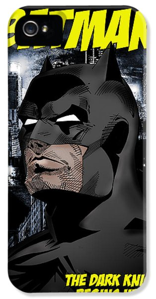 Flash iPhone 5 Cases - The Dark Knight Begins Here iPhone 5 Case by Mark Rogan