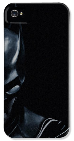 Characters iPhone 5 Cases - The Dark Knight iPhone 5 Case by Jeff DOttavio