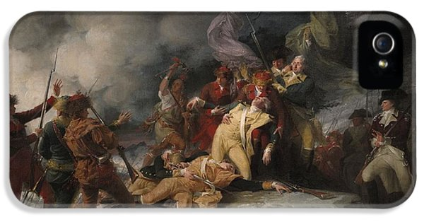 Death iPhone 5 Cases - The Death Of General Montgomery In The Attack On Quebec, December 31, 1775, 1786 Oil On Canvas iPhone 5 Case by John Trumbull