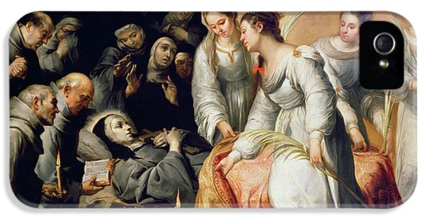 Ill iPhone 5 Cases - The Death of Saint Clare iPhone 5 Case by Bartolome Esteban Murillo