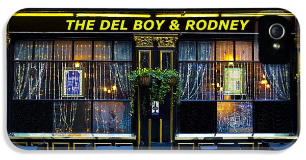 Boys Only iPhone 5 Cases - The Del Boy and Rodney Pub iPhone 5 Case by David Pyatt