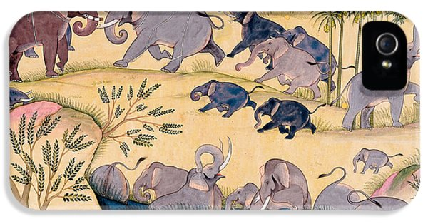 Elephant iPhone 5 Cases - The Elephant Hunt iPhone 5 Case by Indian School