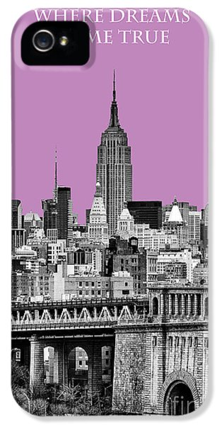 Yellow Taxi iPhone 5 Cases - The Empire State Building pantone african violet iPhone 5 Case by John Farnan
